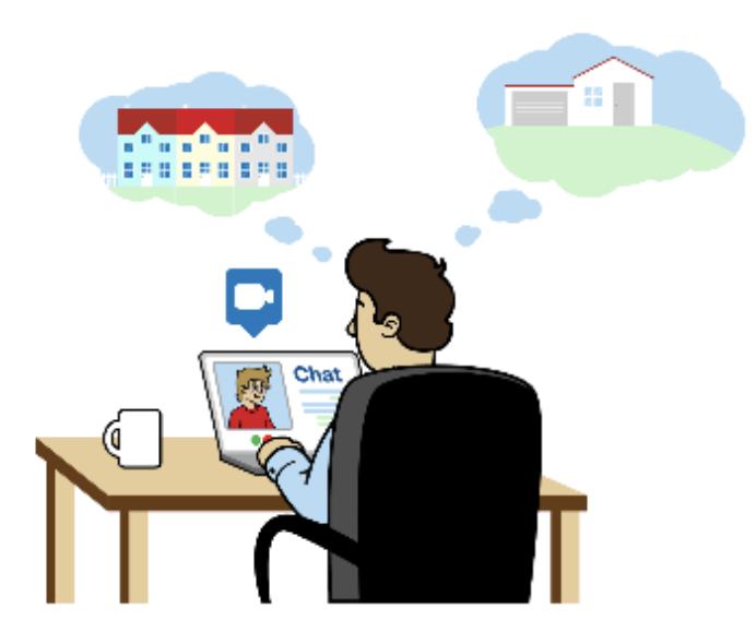 Kako kupiti nepremičnino iz udobja vašega doma - začetni posvet preko video klica